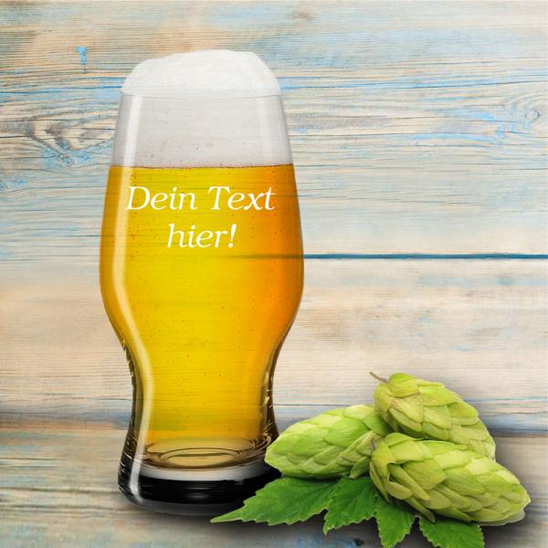 Craft-beer-glas mit Deinem Wunschtext