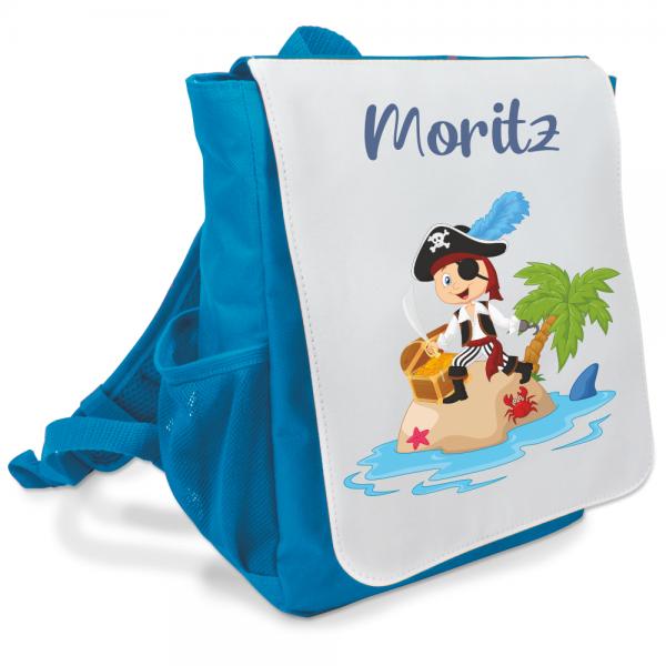 Kinder-Rucksack mit Wunschnamen Pirat