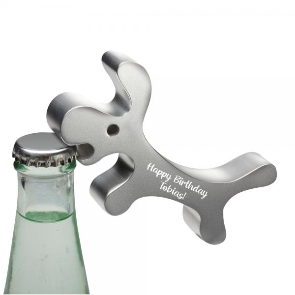 Flaschenöffner Kapselheber mit Gravur Hund