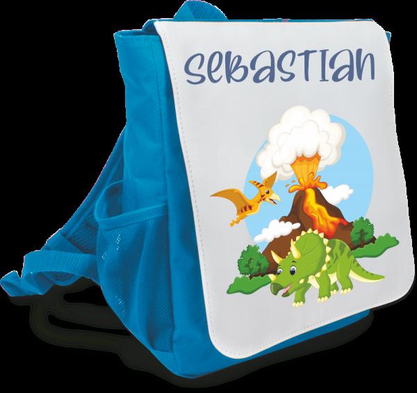 Kinder-Rucksack mit Wunschnamen Dinos