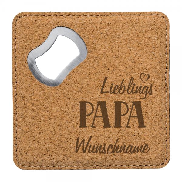 Kork-Flaschenöffner mit Gravur Lieblings-Papa