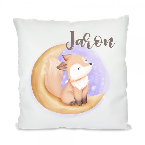 Schlafkissen für Kinder- Fuchs im Mond für Jungen