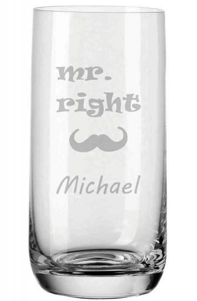 Trinkglas von Leonardo mit deiner Wunschgravur - Mr. Right