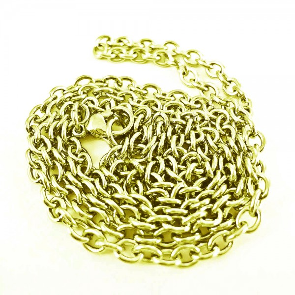 2 mm Ankerkette Edelstahl gold