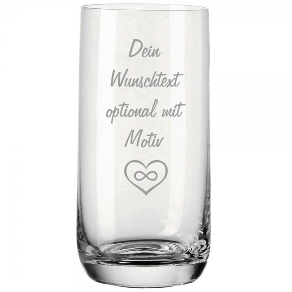 Wasserglas mit Gravur