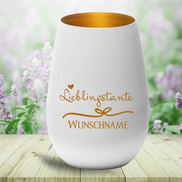 personalisiertes Windlicht Lieblingstante mit Wunschnamen