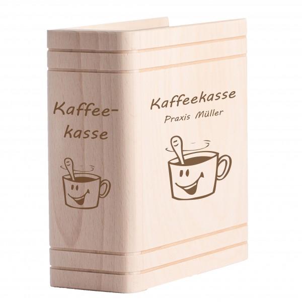 Personalisiertes Sparbuch mit Gravur - Kaffeekasse