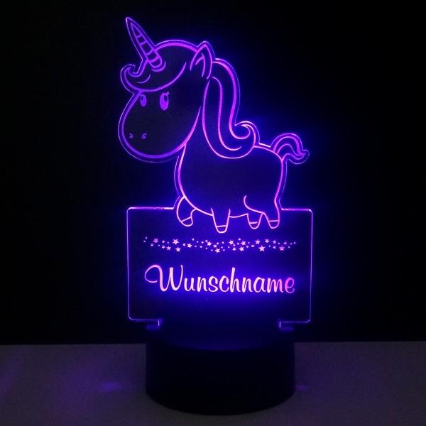 Personalisiertes Nachtlicht -LED-Leuchte Einhorn