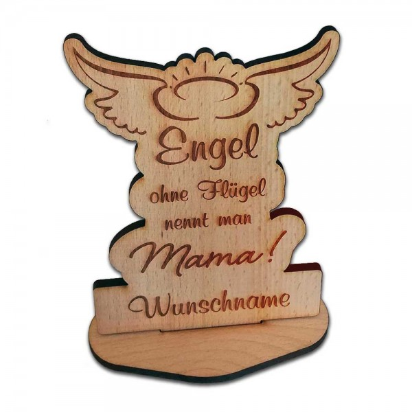 Holz-Aufsteller Engel Mama Geschenk zum Muttertag