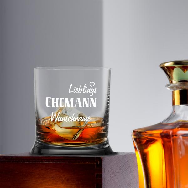 Whiskyglas Lieblings-Ehemann mit Namen