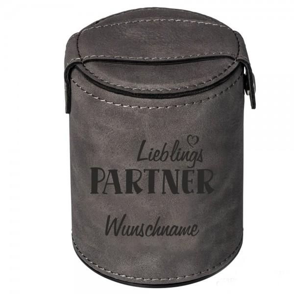 Würfelbecher mit Namen-Lieblings-Partner