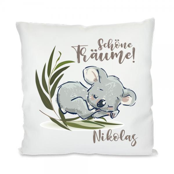 Namenskissen Schöne Träume - Koala