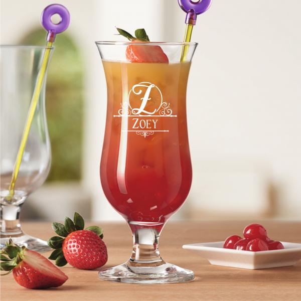 Personalisiertes Cocktail-Glas mit Monogramm