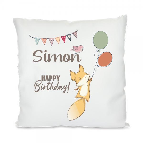 Namenskissen zum Geburtstag Fuchs