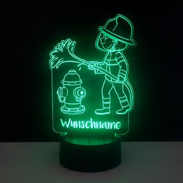 Kinder Nachtlicht Feuerwehrmann mit Wunschnamen