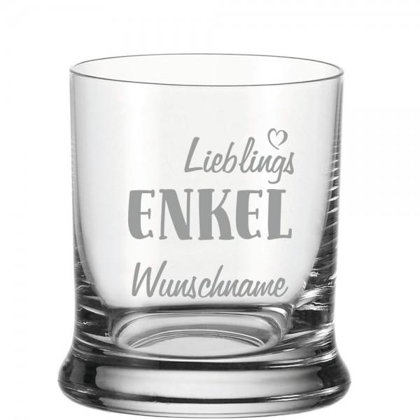 "Whisky-Glas ""Lieblings-Enkel"" mit Deinem Wunschnamen"