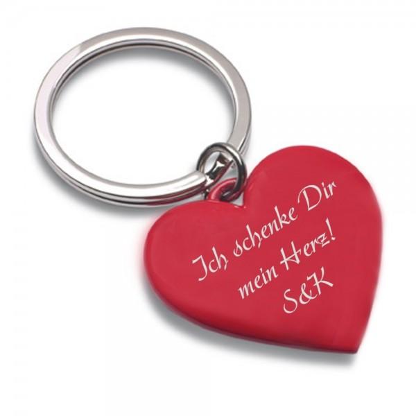 Gravur-Schlüsselanhänger Shiny Heart Love
