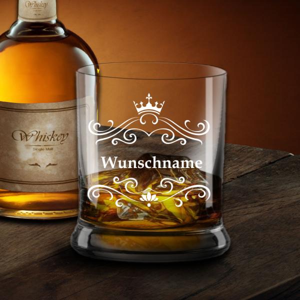 Elegantes Whisky-Glas mit Deinem Wunschnamen