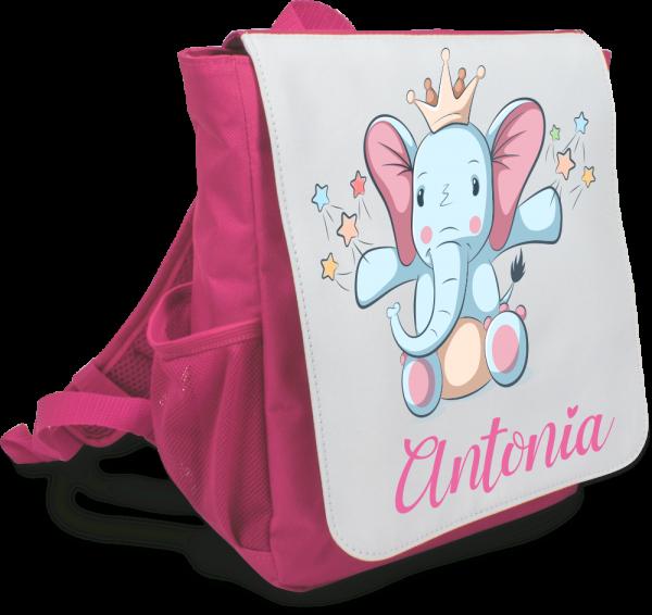 Mädchen-Rucksack mit Deinem Wunschnamen - Modell Elefant