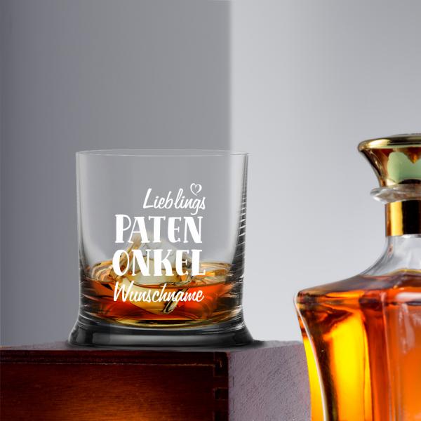 Whiskyglas Lieblings-Patenonkel mit Namen