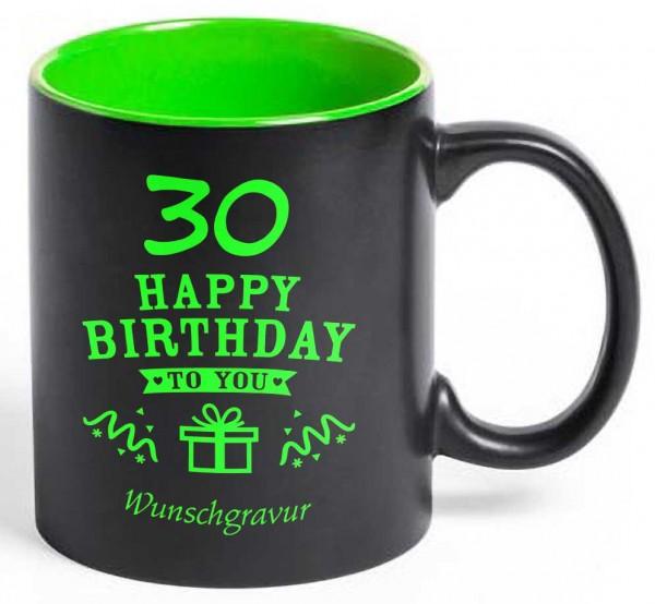 """Tasse """"30. Geburtstag"""" mit deiner Wunschgravur"""