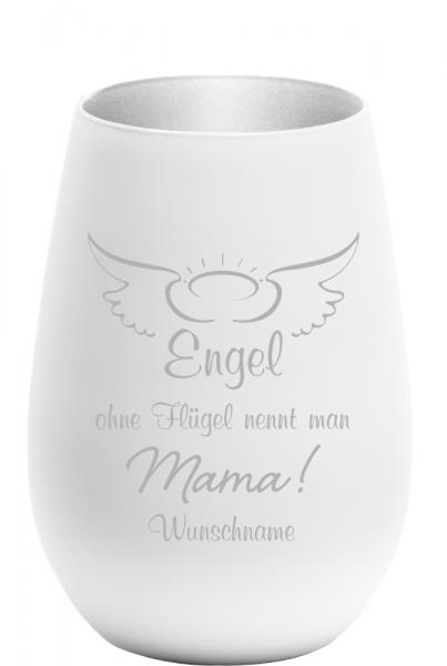 Windlicht Engel ohne Flügel nennt man Mama - mit Wunschnamen
