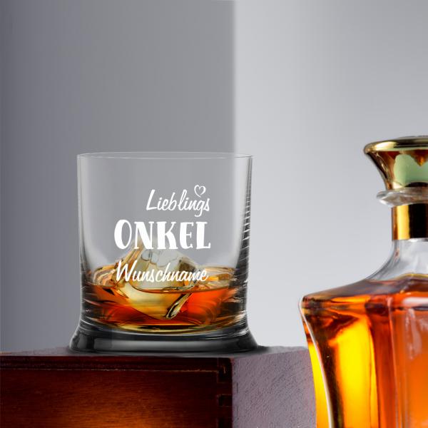 Whiskyglas Lieblings-Onkel mit Wunschnamen