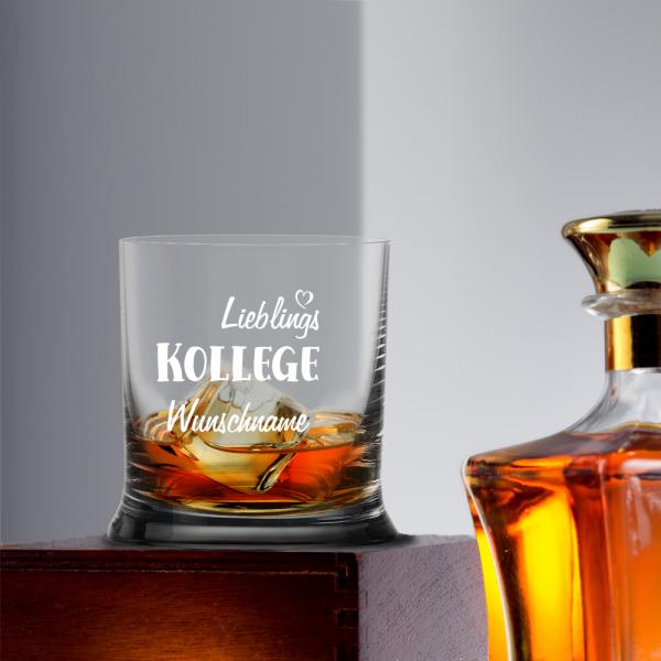 Whiskyglas Lieblings-Kollege mit Namen