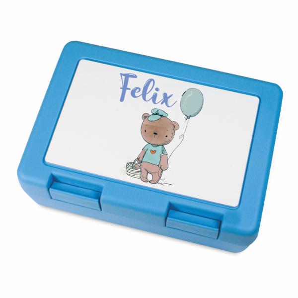 Kinder-Brotdose mit Deinem Wunschnamen - Teddy