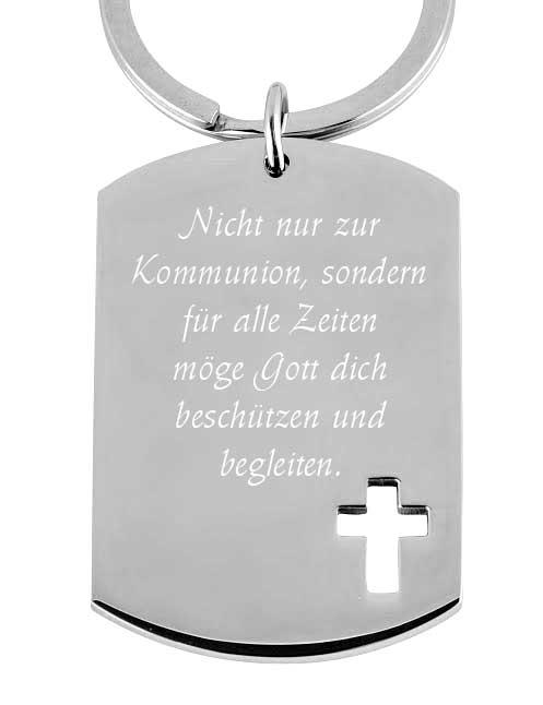 Schlüsselanhänger Anhänger Buchstabe Name Edelstahl Geschenkbox Weihnachten Etui
