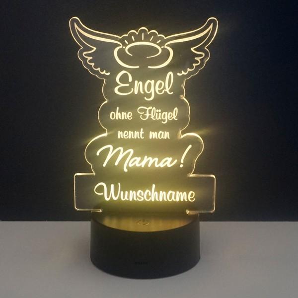 LED-Leuchte Engel Mama mit Wunschnamen