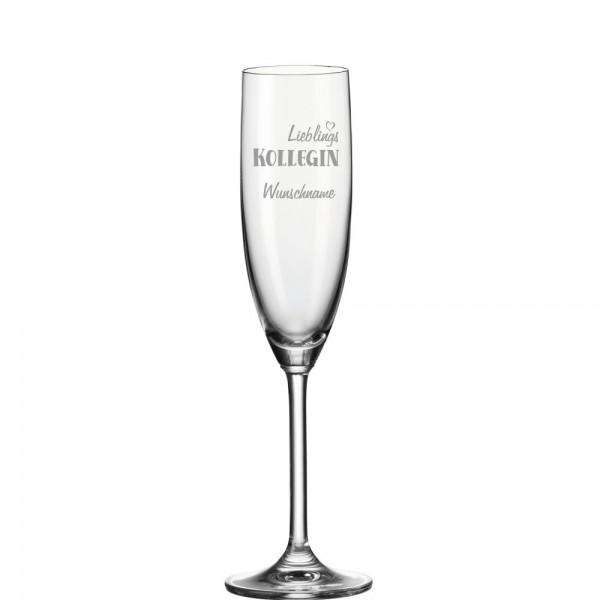 """Personalisiertes Sektglas """"Lieblingskollegin"""" mit Wunschnamen"""