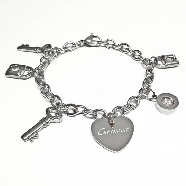 Trendgravur Bettel-Armband mit Gravur Edelstahl AG-B014
