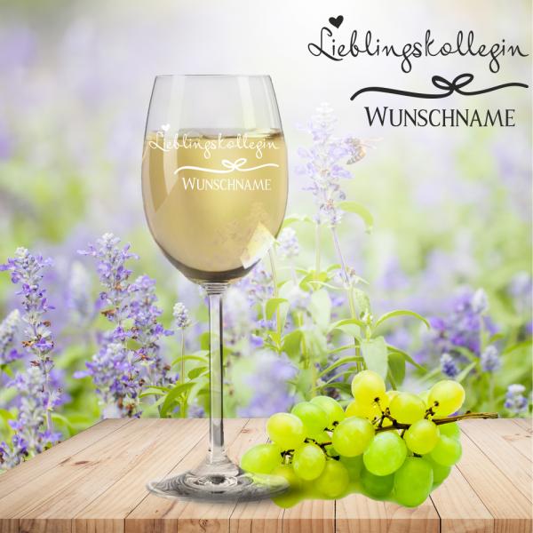 Weißweinglas von Leonardo Lieblingskollegin mit Namensgravur