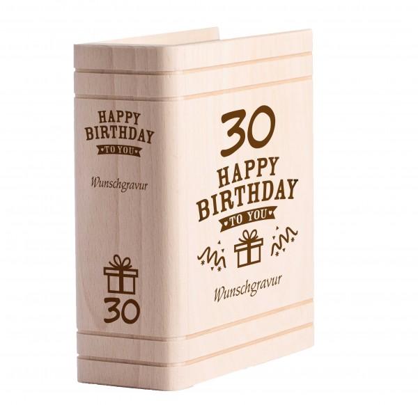 Personalisiertes Sparbuch mit Gravur - 30. Geburtstag