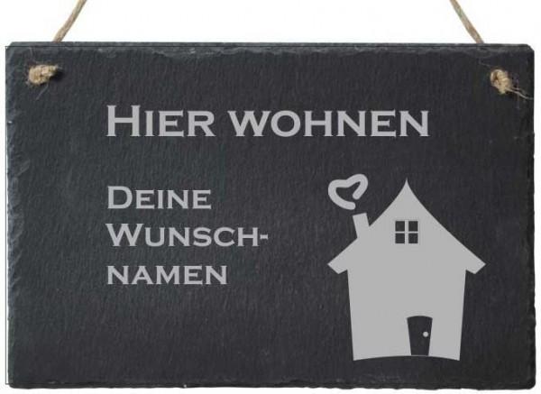 Türschild Schiefer mit Deinen Wunschnamen Haus