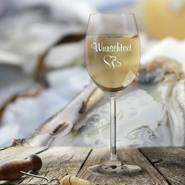 Weißweinglas Leonardo mit Deinem Wunschtext