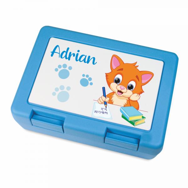 Brotdose für Jungen mit Deinem Wunschnamen- Katze