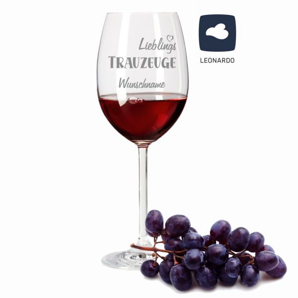 Rotweinglas Lieblings-Trauzeuge mit Deinem Wunschnamen