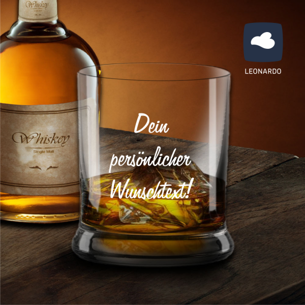 Whiskyglas mit deinem Wunschtext