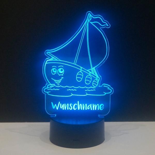 LED-Licht Schiff mit Wunschnamen