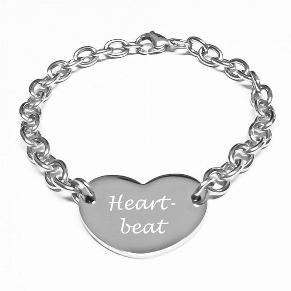 Trendgravur Herz-Armband Heart-Beat