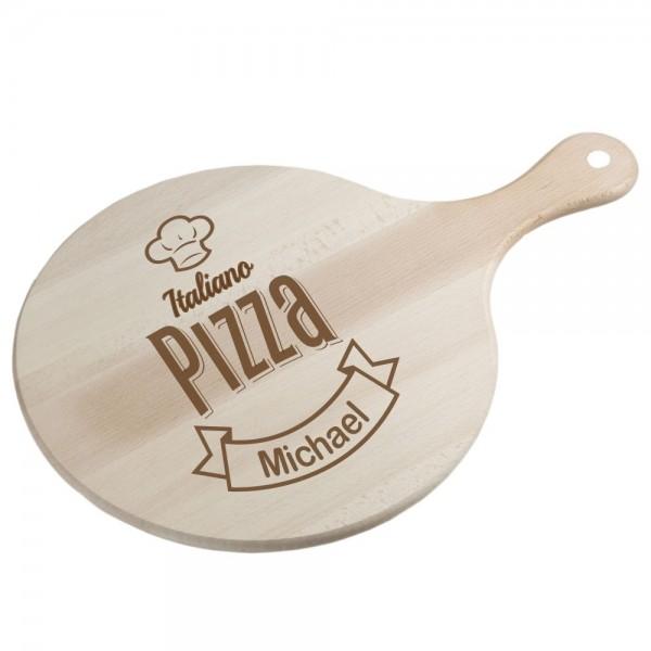 Pizzabrett - Italiano mit Deinem Wunschnamen