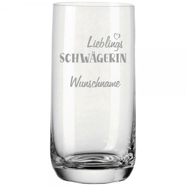 Trinkglas mit Gravur Lieblings-Schwägerin