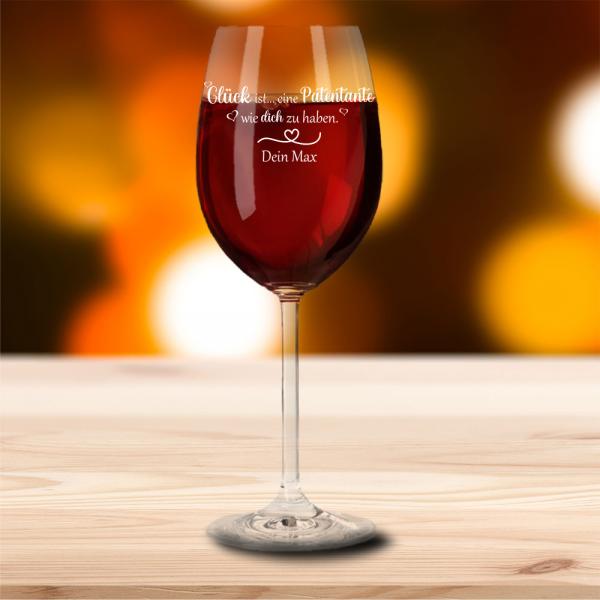 Rotweinglas von Leonardo Glück ist eine Patentante