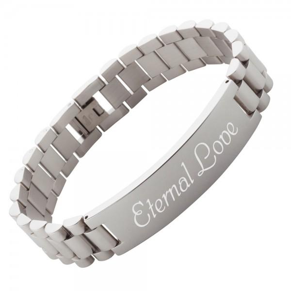 Armband mit Gravur Edelstahl AG-018