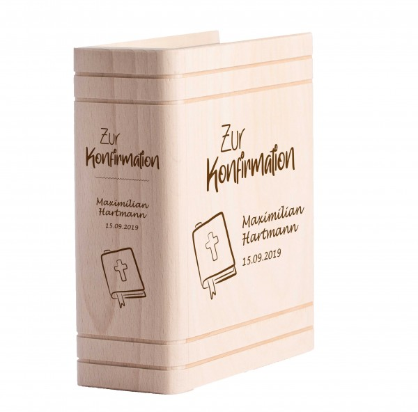 Personalisiertes Sparbuch mit Gravur zur Konfirmation - Gesangbuch