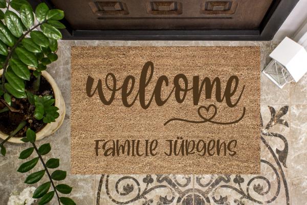Fussmatte welcome mit Deinem Familienname