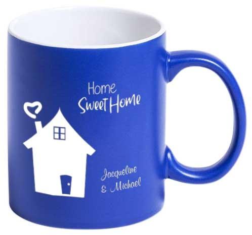 """Tasse """"Home Sweet Home"""" mit deinen Wunschnamen"""