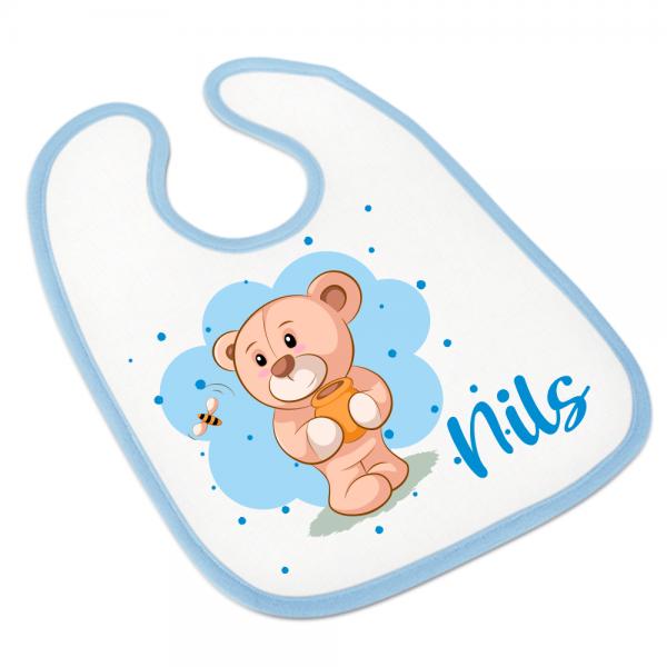 Sabberlatz Babylätzchen mit Namen Teddy